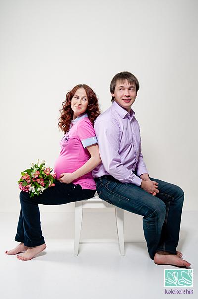 фотосессия беременных в студии